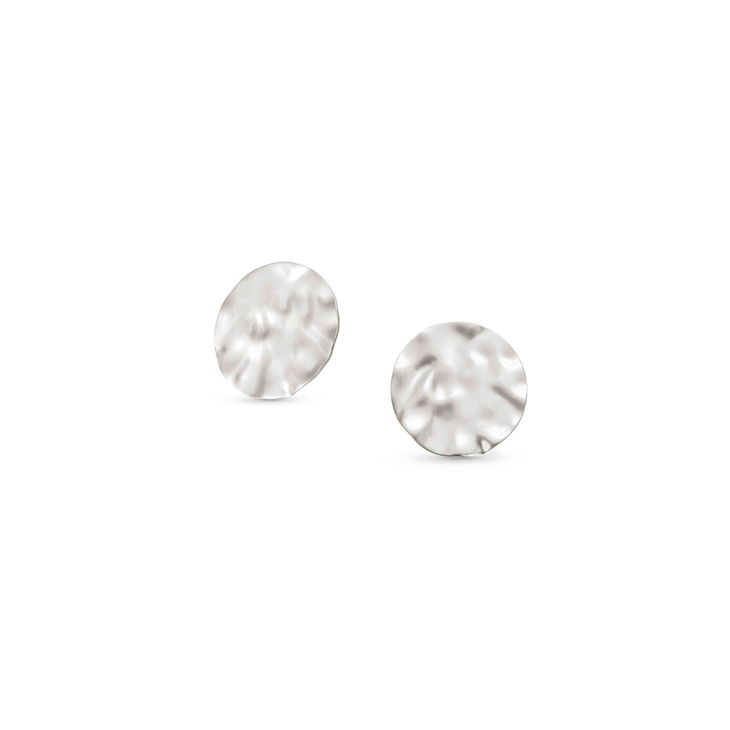 LUNA EARRINGS 140449/010 SILVER LARGE STUDS