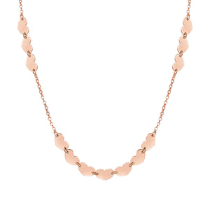 ARMONIE NECKLACE 146902/002 ROSE GOLD HEARTS