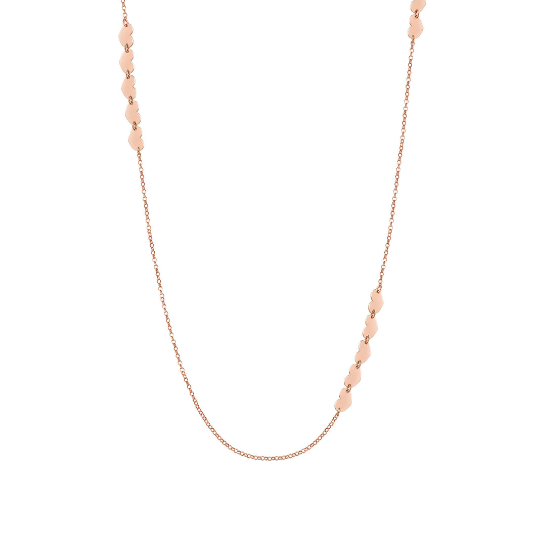 ARMONIE NECKLACE 146904/002 LONG ROSE GOLD HEARTS