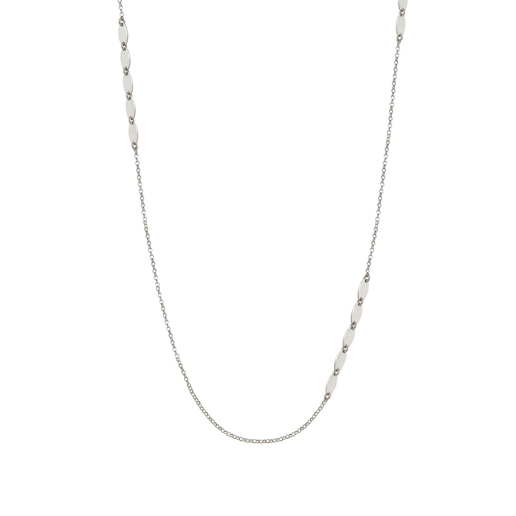 ARMONIE NECKLACE 146904/010 LONG SILVER OVALS