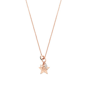 EASYCHIC NECKLACE 147902/046 ROSE GOLD BEST SISTER STAR