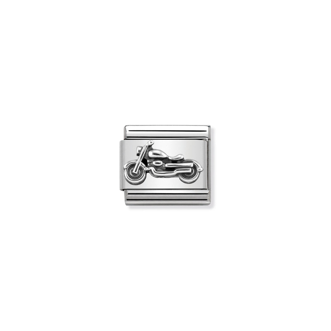 COMPOSABLE CLASSIC LINK 330101/32 VINTAGE MOTORBIKE IN 925 SILVER