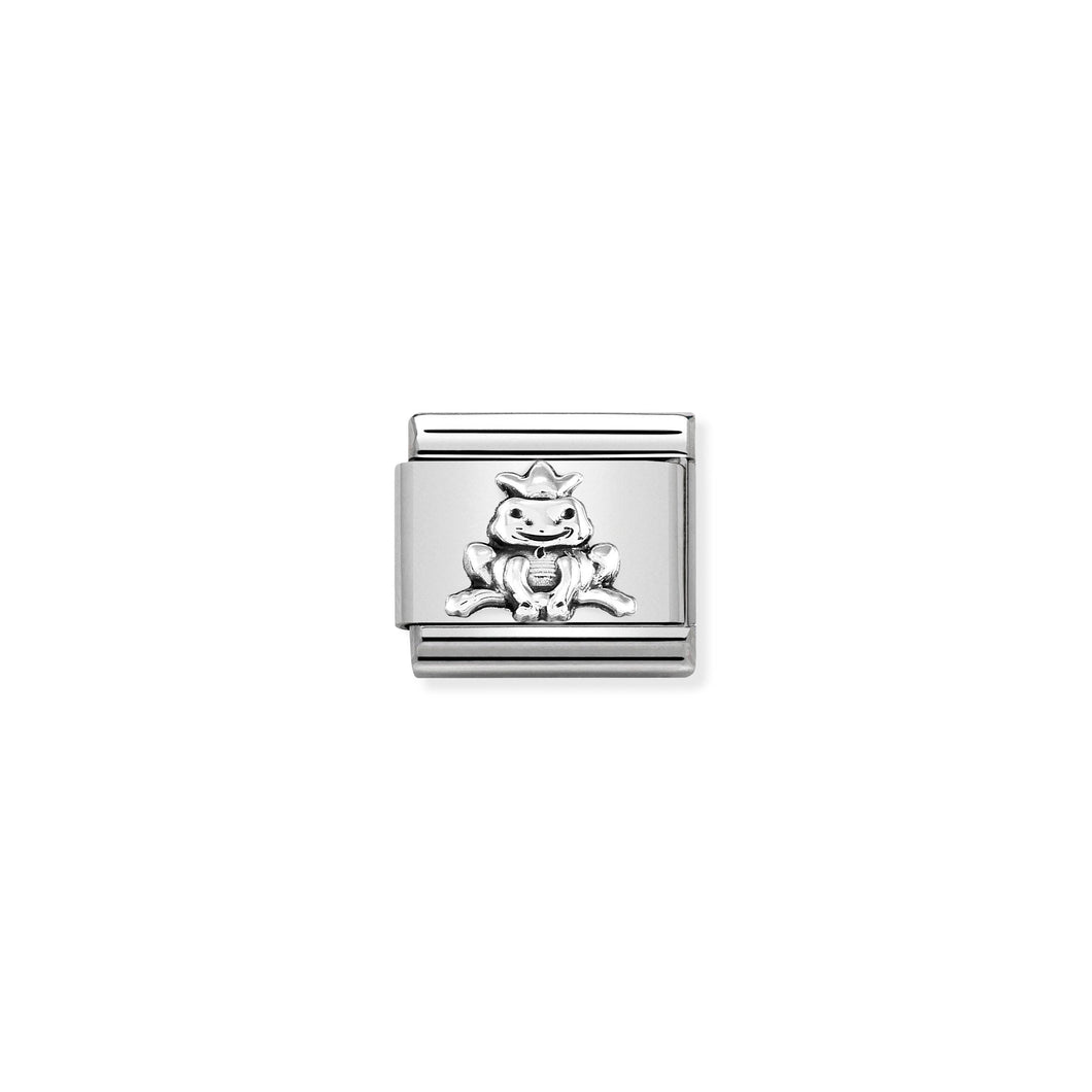 COMPOSABLE CLASSIC LINK 330101/36 FROG WITH CROWN IN 925 SILVER