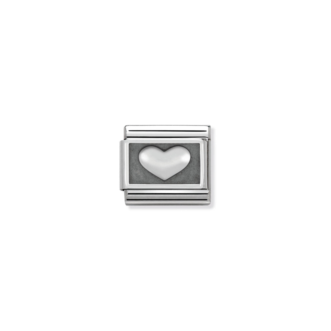COMPOSABLE CLASSIC LINK 330102/01 HEART IN 925 SILVER