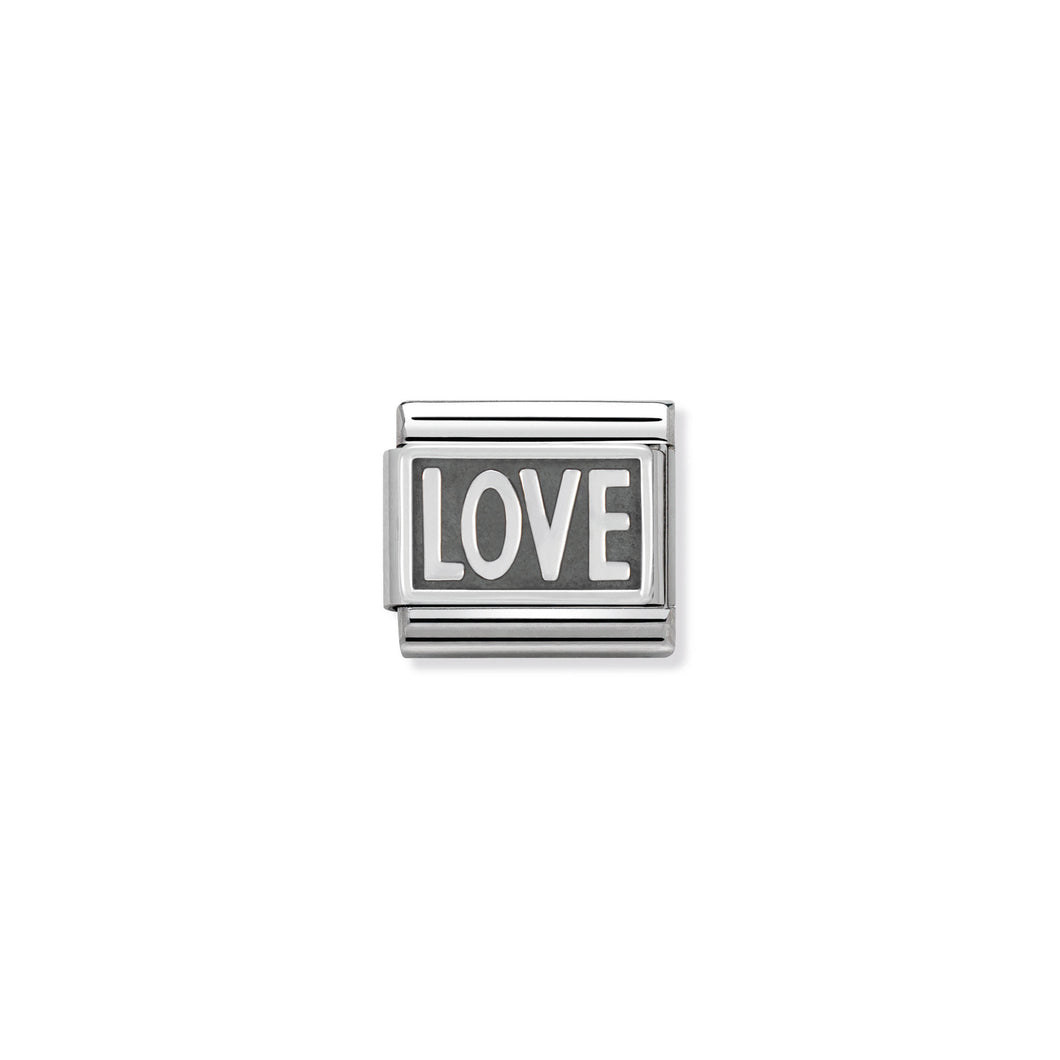 COMPOSABLE CLASSIC LINK 330102/03 LOVE IN 925 SILVER