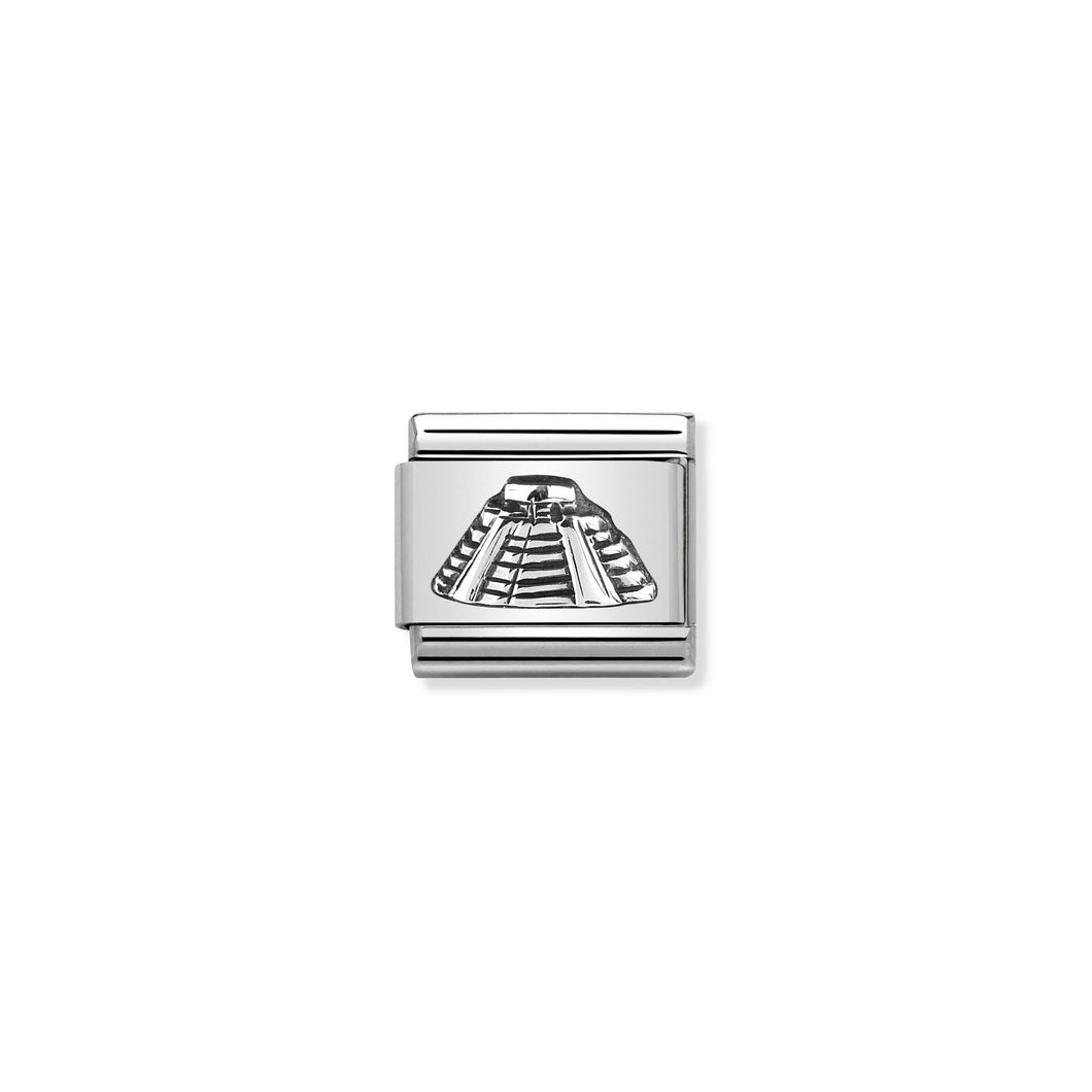 COMPOSABLE CLASSIC LINK 330105/07 MAYAN PYRAMID RELIEF IN 925 SILVER
