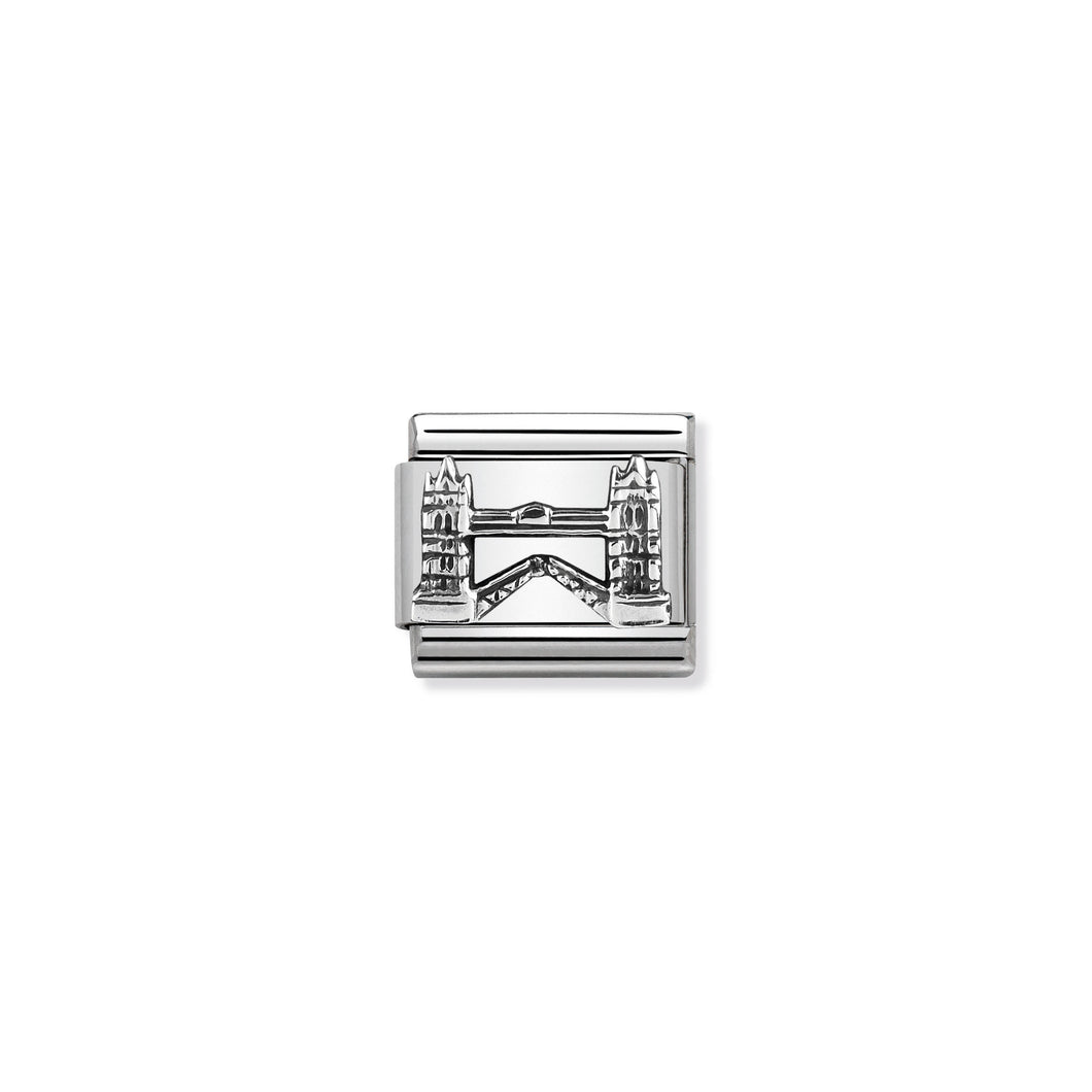 COMPOSABLE CLASSIC LINK 330105/10 TOWER BRIDGE RELIEF IN 925 SILVER