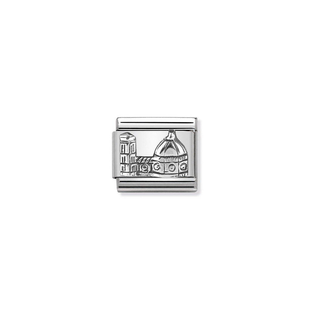 COMPOSABLE CLASSIC LINK 330105/14 FLORENCE DUOMO RELIEF IN 925 SILVER