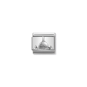 COMPOSABLE CLASSIC LINK 330105/20 ST PETER'S DOME RELIEF IN 925 SILVER