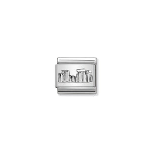COMPOSABLE CLASSIC LINK 330105/30 STONEHENGE RELIEF IN 925 SILVER