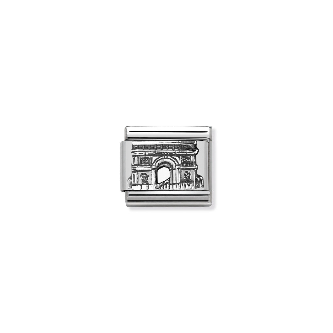 COMPOSABLE CLASSIC LINK 330105/31 ARC DE TRIOMPHE RELIEF IN 925 SILVER