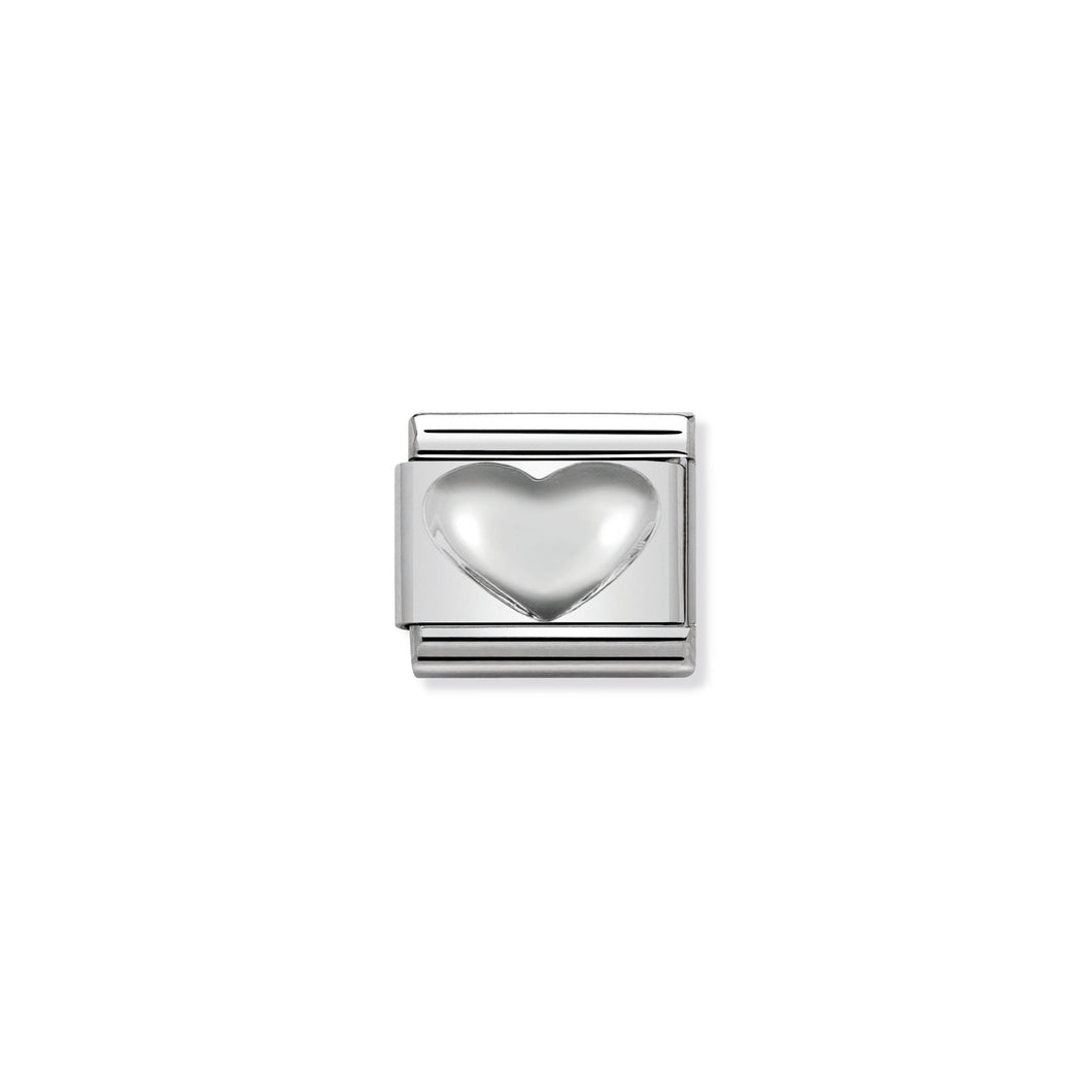 COMPOSABLE CLASSIC LINK 330106/01 HEART IN 925 SILVER