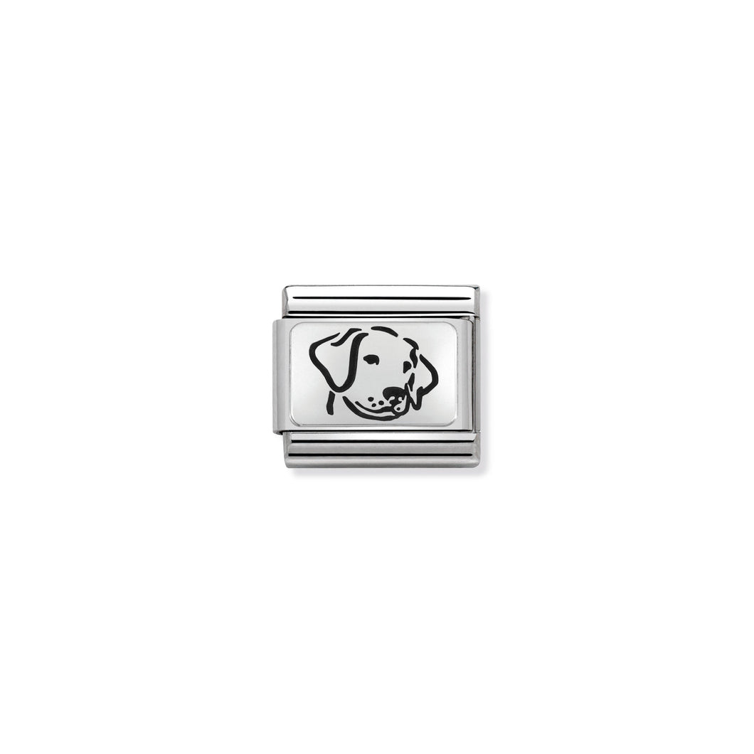 COMPOSABLE CLASSIC LINK 330109/06 DOG IN 925 SILVER