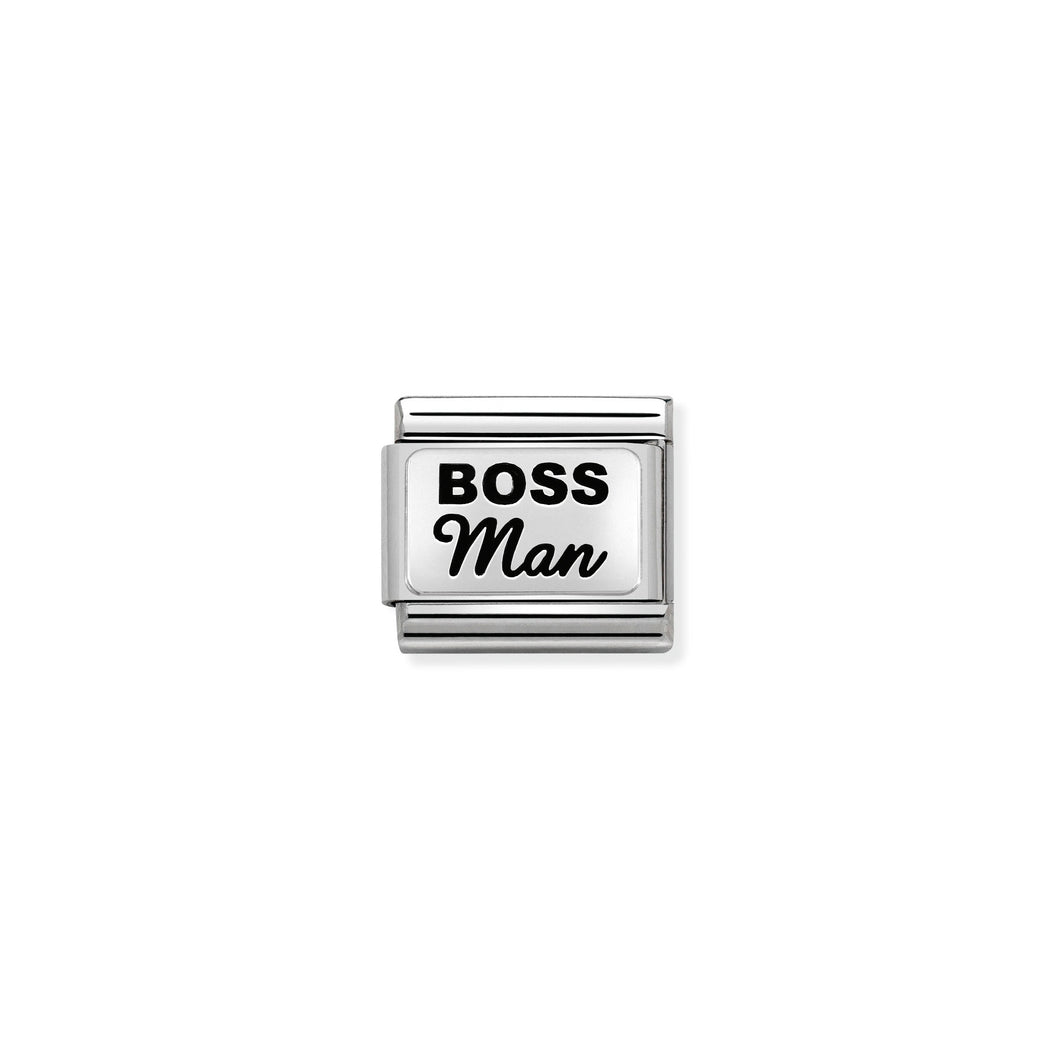COMPOSABLE CLASSIC LINK 330109/34 BOSS MAN IN 925 SILVER