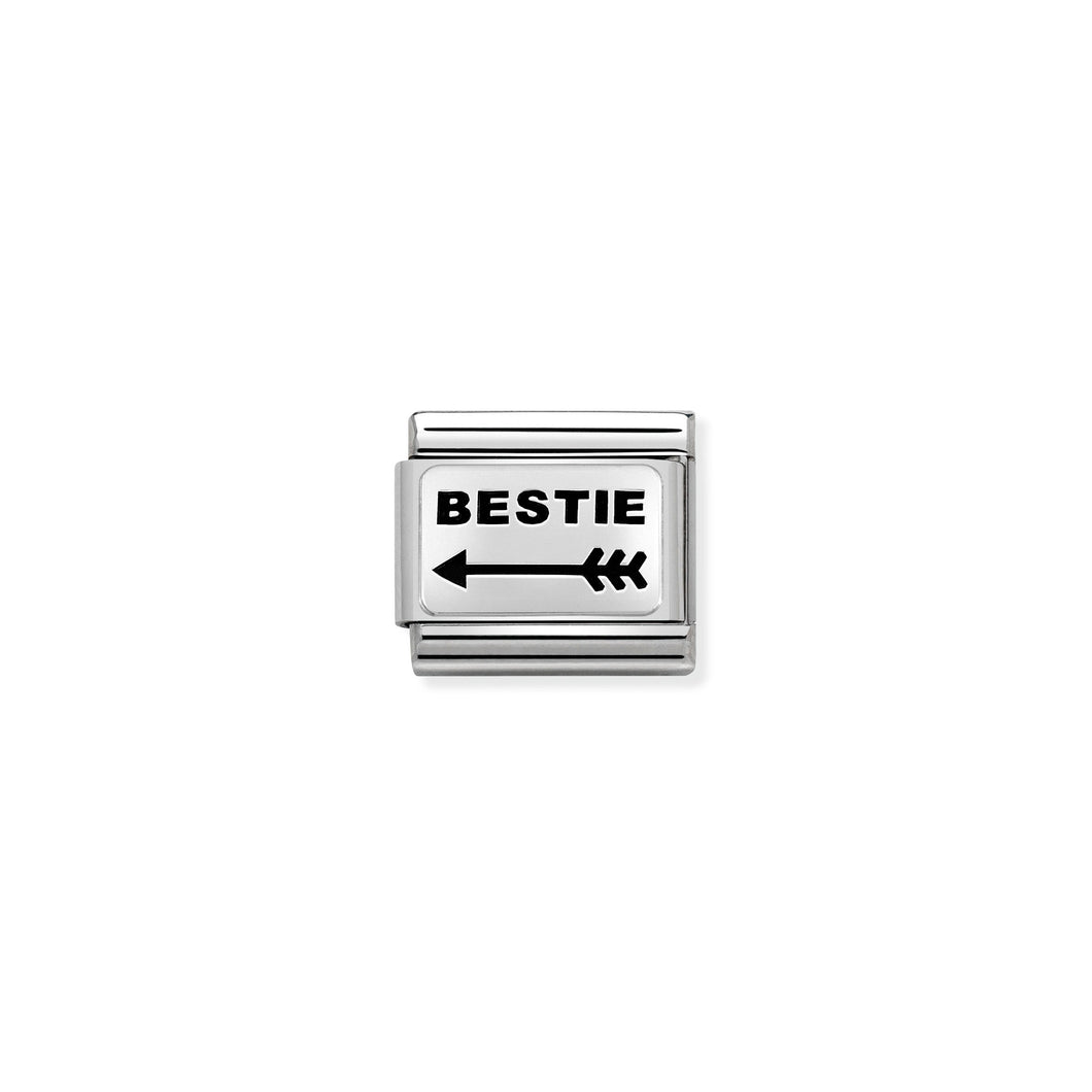 COMPOSABLE CLASSIC LINK 330109/43 BESTIE (WITH LEFT ARROW) IN 925 SILVER
