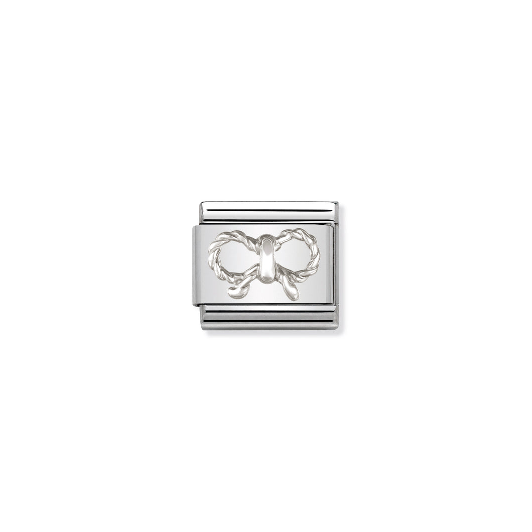 COMPOSABLE CLASSIC LINK 330110/03 BOW IN 925 SILVER