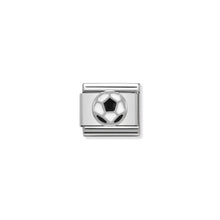 Load image into Gallery viewer, COMPOSABLE CLASSIC LINK 330202/13 SOCCER BALL IN ENAMEL & 925 SILVER