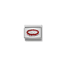 Load image into Gallery viewer, COMPOSABLE CLASSIC LINK 330202/33 PIZZA IN ENAMEL & 925 SILVER