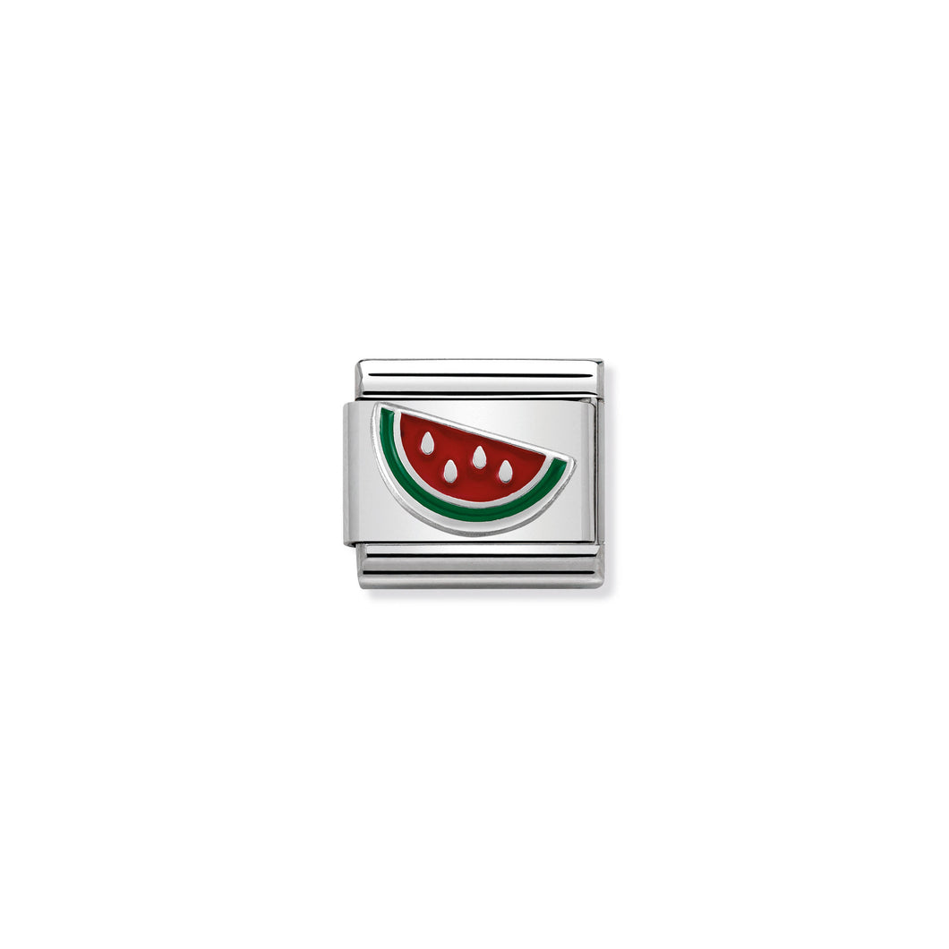 COMPOSABLE CLASSIC LINK 330202/42 WATERMELON IN ENAMEL & 925 SILVER