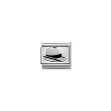 Load image into Gallery viewer, COMPOSABLE CLASSIC LINK 330202/46 PANAMA HAT IN ENAMEL & 925 SILVER