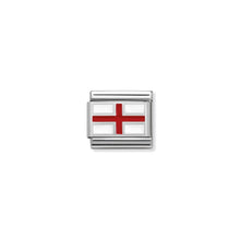 Load image into Gallery viewer, COMPOSABLE CLASSIC LINK 330207/03 ENGLAND IN ENAMEL & 925 SILVER