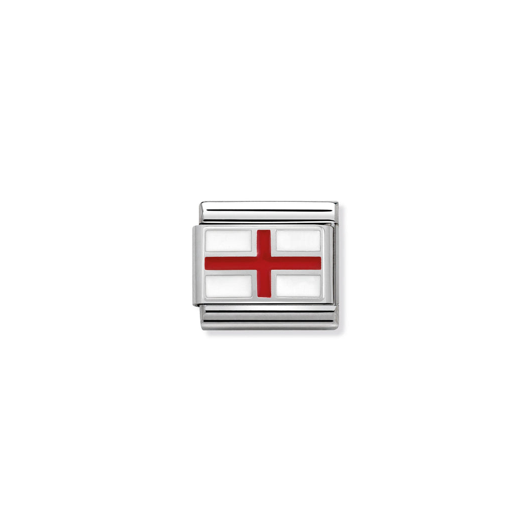 COMPOSABLE CLASSIC LINK 330207/03 ENGLAND IN ENAMEL & 925 SILVER
