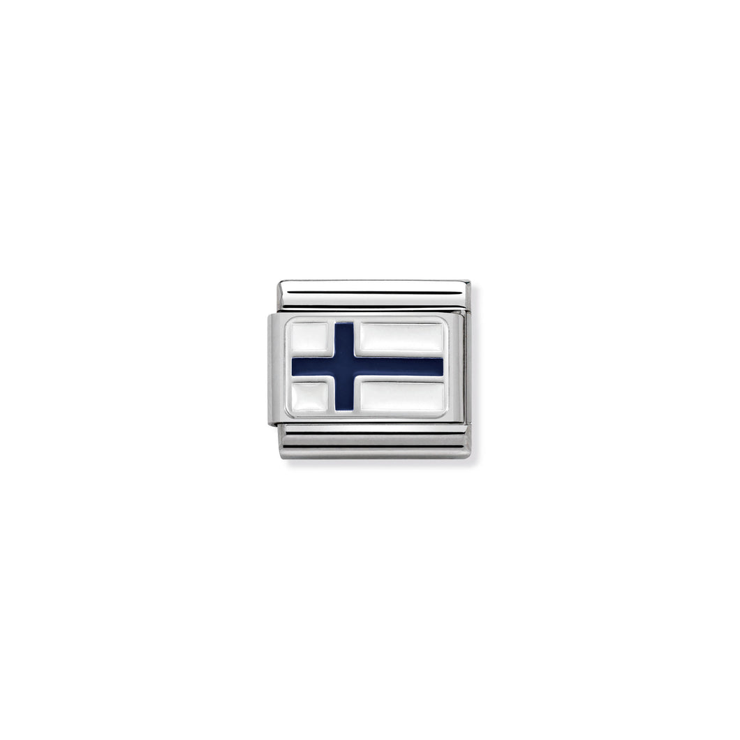 COMPOSABLE CLASSIC LINK 330207/10 FINLAND IN ENAMEL & 925 SILVER