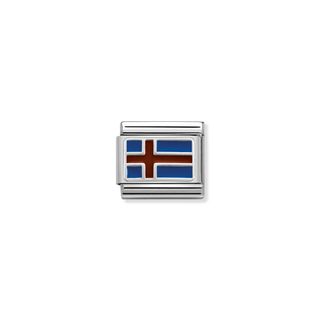COMPOSABLE CLASSIC LINK 330207/11 ICELAND IN ENAMEL & 925 SILVER