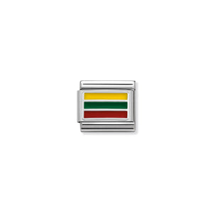 COMPOSABLE CLASSIC LINK 330207/27 LITHUANIA IN ENAMEL & 925 SILVER