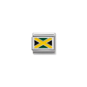 COMPOSABLE CLASSIC LINK 330207/28 JAMAICA IN ENAMEL & 925 SILVER