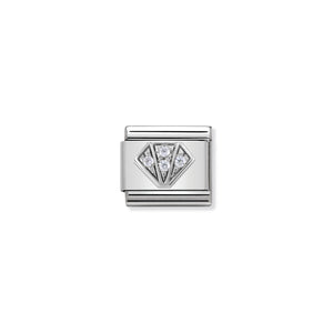 COMPOSABLE CLASSIC LINK 330304/32 DIAMOND WITH CZ IN 925 SILVER