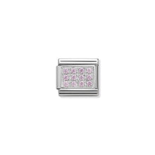 Load image into Gallery viewer, COMPOSABLE CLASSIC LINK 330307/06 PAVÉ WITH PINK CZ IN 925 SILVER