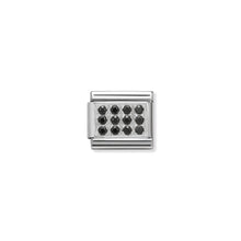 Load image into Gallery viewer, COMPOSABLE CLASSIC LINK 330307/10 PAVÉ WITH BLACK CZ IN 925 SILVER