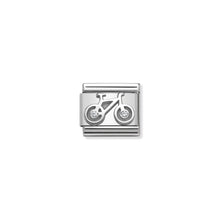 Load image into Gallery viewer, COMPOSABLE CLASSIC LINK 330311/04 BICYCLE WITH WHITE CZ IN 925 SILVER
