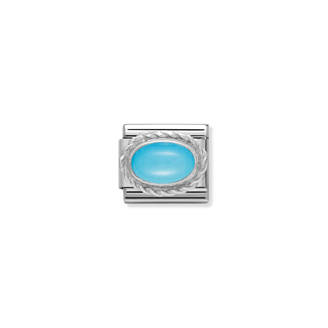 COMPOSABLE CLASSIC LINK 330503/06 TURQUOISE STONE IN 925 SILVER