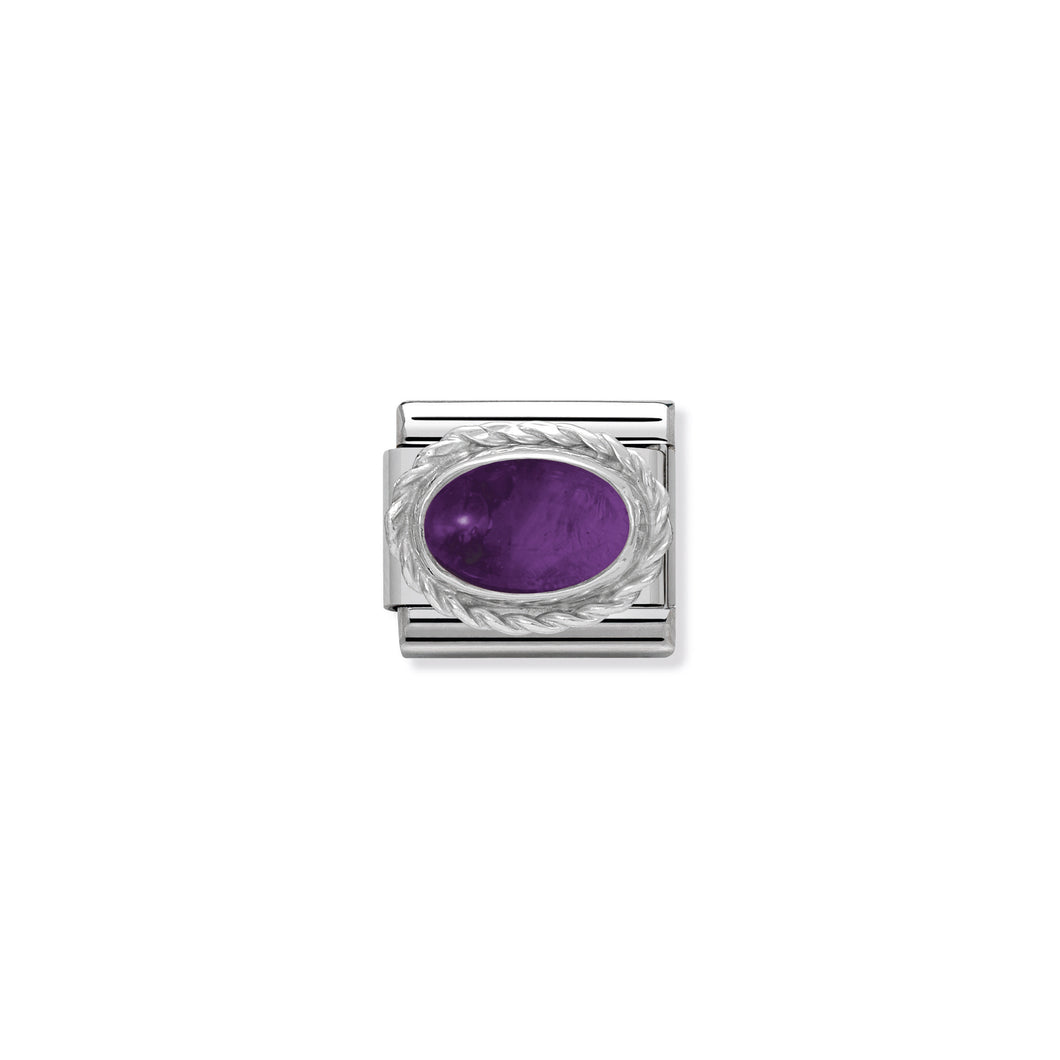 COMPOSABLE CLASSIC LINK 330504/02 AMETHYST STONE IN 925 SILVER