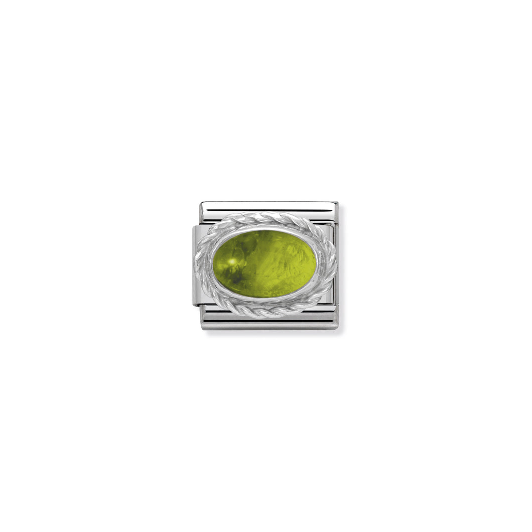 COMPOSABLE CLASSIC LINK 330504/05 PERIDOT STONE IN 925 SILVER