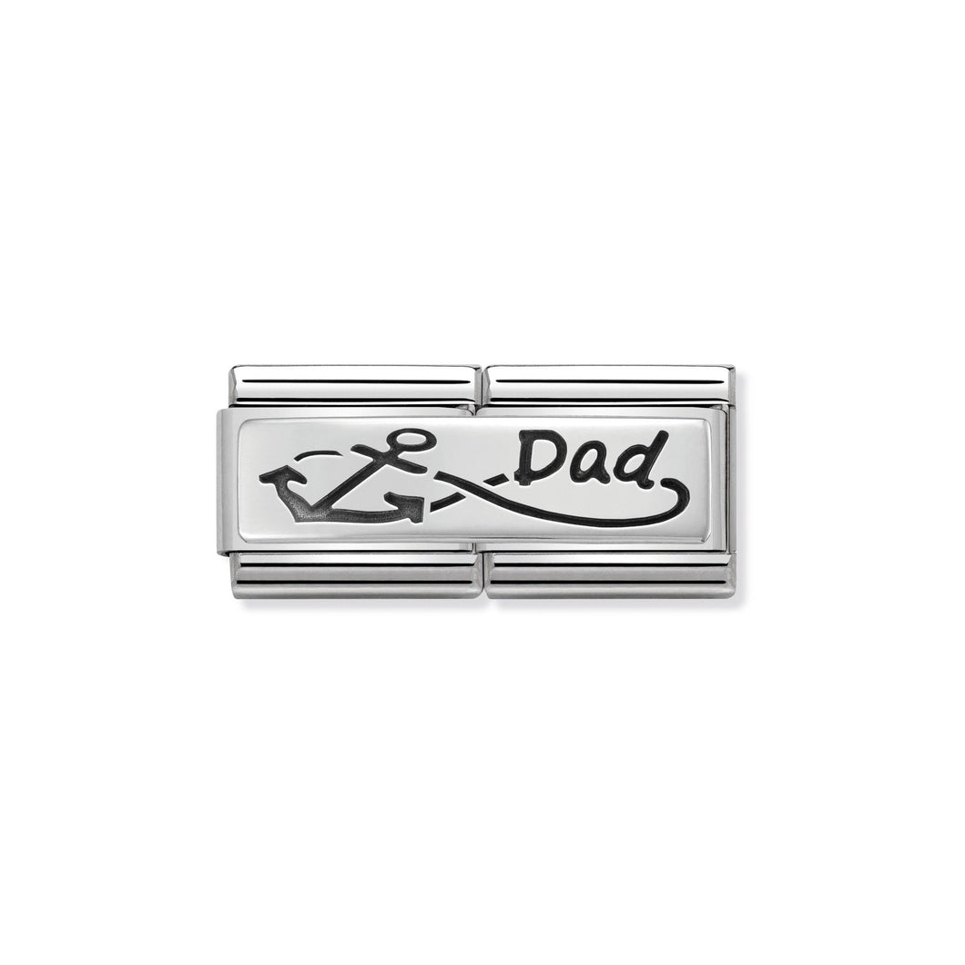 COMPOSABLE CLASSIC DOUBLE LINK 330710/05 INFINITE DAD IN 925 SILVER