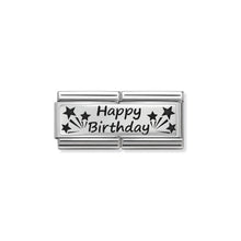 Load image into Gallery viewer, COMPOSABLE CLASSIC DOUBLE LINK 330710/13 HAPPY BIRTHDAY IN 925 SILVER