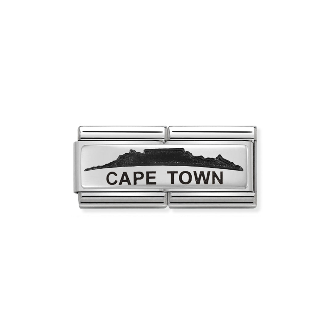 COMPOSABLE CLASSIC DOUBLE LINK 330790/06 CAPETOWN SKYLINE IN 925 SILVER