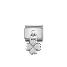 Load image into Gallery viewer, COMPOSABLE CLASSIC LINK 331800/02 FOUR LEAF CLOVER CHARM WITH CZ & 925 SILVER