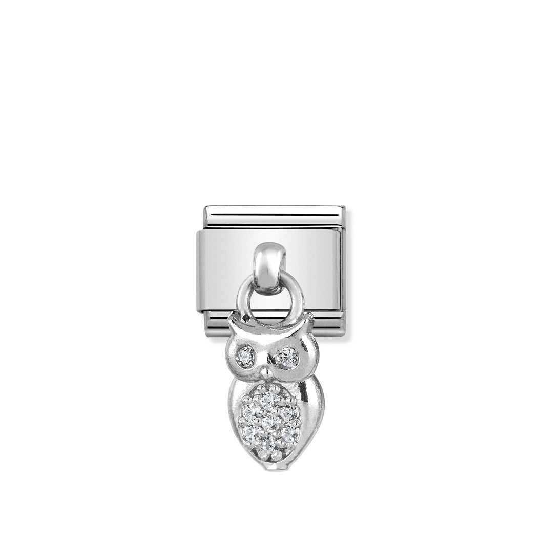 COMPOSABLE CLASSIC LINK 331800/12 OWL CHARM WITH CZ & 925 SILVER
