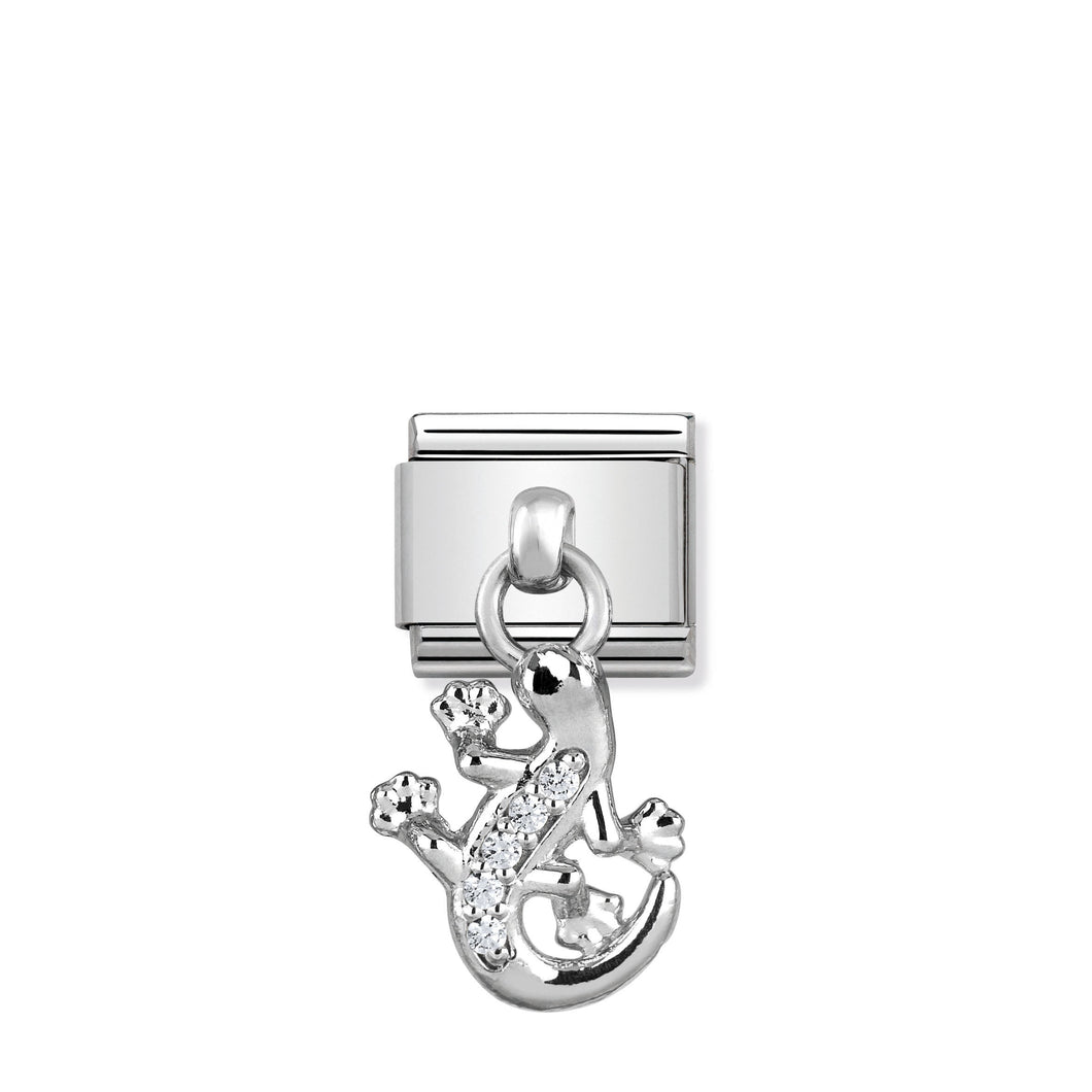 COMPOSABLE CLASSIC LINK 331800/19 GECKO CHARM WITH CZ & 925 SILVER