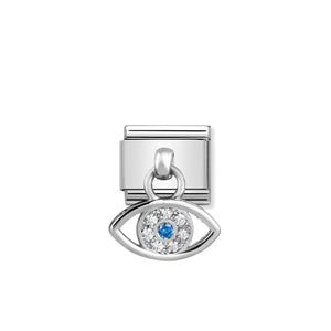 COMPOSABLE CLASSIC LINK 331800/22 GREEK EYE CHARM WITH CZ & 925 SILVER