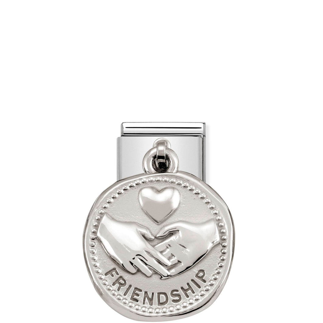 COMPOSABLE CLASSIC LINK 331804/04 FRIENDSHIP WISHES CHARM IN 925 SILVER