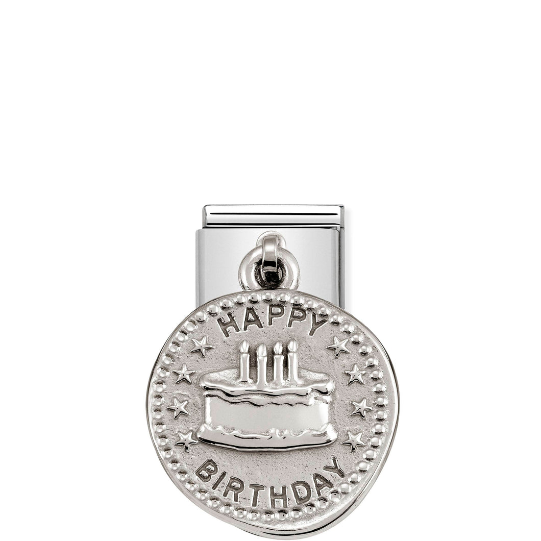 COMPOSABLE CLASSIC LINK 331804/06 HAPPY BIRTHDAY WISHES CHARM IN 925 SILVER