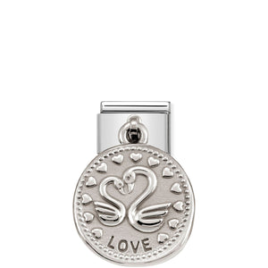 COMPOSABLE CLASSIC LINK 331804/08 LOVE WISHES CHARM IN 925 SILVER