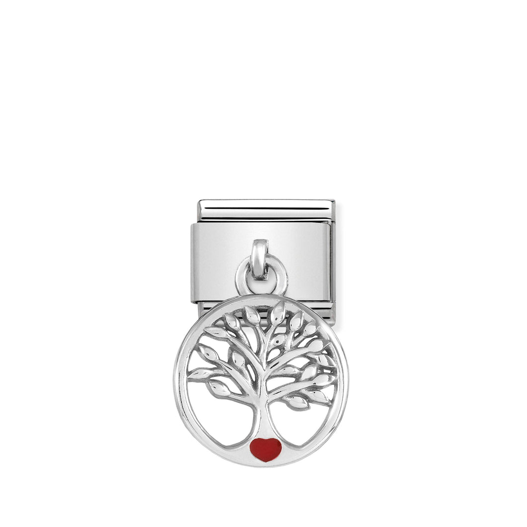 COMPOSABLE CLASSIC LINK 331805/07 TREE OF LIFE CHARM IN ENAMEL & 925 SILVER