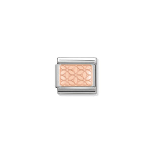 COMPOSABLE CLASSIC LINK 430101/18 FLOWERS IN 9K ROSE GOLD