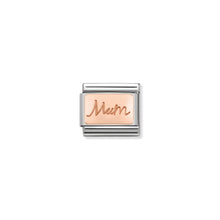 Load image into Gallery viewer, COMPOSABLE CLASSIC LINK 430101/34 MUM PLATE IN 9K ROSE GOLD
